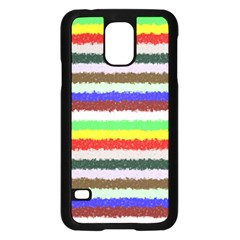 Horizontal Vivid Colors Curly Stripes - 2 Samsung Galaxy S5 Case (Black)