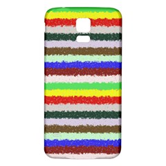 Horizontal Vivid Colors Curly Stripes - 2 Samsung Galaxy S5 Back Case (White)