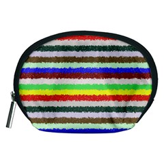 Horizontal Vivid Colors Curly Stripes - 2 Accessory Pouch (Medium)