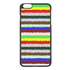 Horizontal Vivid Colors Curly Stripes - 2 Apple iPhone 6 Plus Black Enamel Case