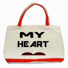 You My Heart Classic Tote Bag (red)