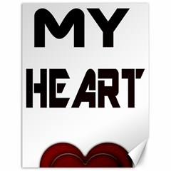 You My Heart Canvas 12  x 16  (Unframed)