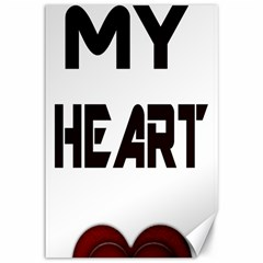 You My Heart Canvas 12  x 18  (Unframed)