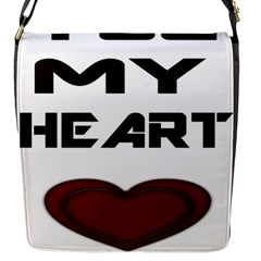 You My Heart Flap Closure Messenger Bag (small)