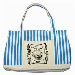 Art 6 Blue Striped Tote Bag