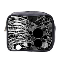 Zebra Print Bling Abstract Mini Toiletries Bag (two Sides)