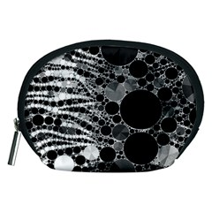Zebra Print Bling Abstract Accessory Pouch (Medium)