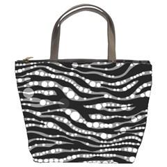 Zebra Pattern  Bucket Handbag