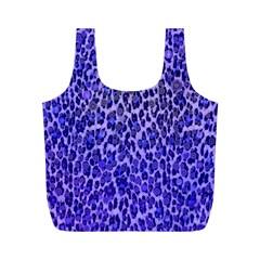 Blue Leopard  Reusable Bag (M)