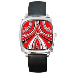 Fantasy Square Leather Watch