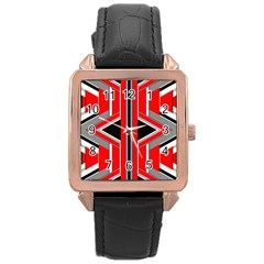 Fantasy Rose Gold Leather Watch
