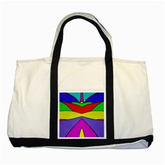 Abstract Two Toned Tote Bag