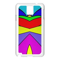 Abstract Samsung Galaxy Note 3 N9005 Case (White)
