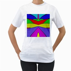 Abstract Women s T-Shirt (White)