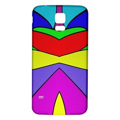 Abstract Samsung Galaxy S5 Back Case (White)
