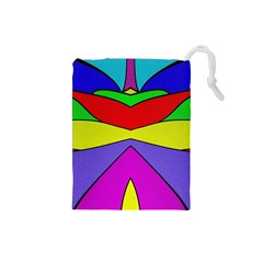 Abstract Drawstring Pouch (Small)