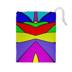 Abstract Drawstring Pouch (Large)