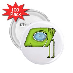 Funny Alien Monster Character 2 25  Button (100 Pack)