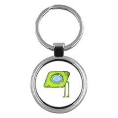 Funny Alien Monster Character Key Chain (round)