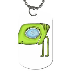 Funny Alien Monster Character Dog Tag (two Sided)