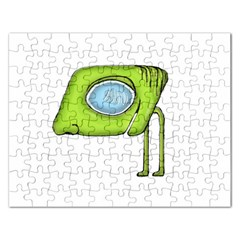 Funny Alien Monster Character Jigsaw Puzzle (rectangle)