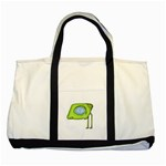 Funny Alien Monster Character Two Toned Tote Bag Front