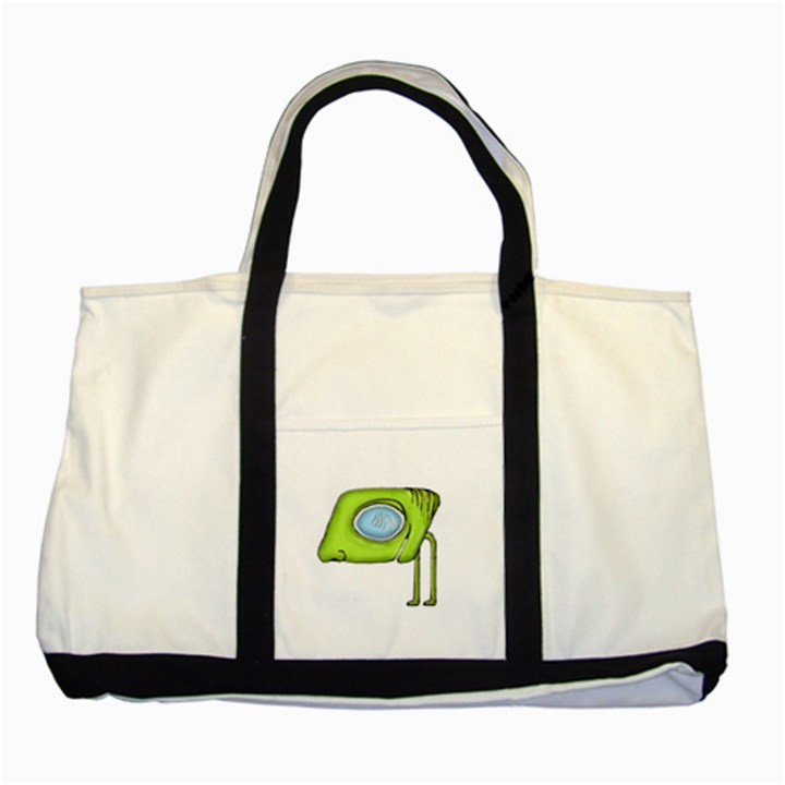 Funny Alien Monster Character Two Toned Tote Bag