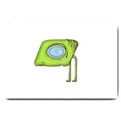 Funny Alien Monster Character Large Door Mat