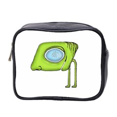 Funny Alien Monster Character Mini Travel Toiletry Bag (two Sides)