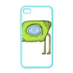 Funny Alien Monster Character Apple Iphone 4 Case (color)