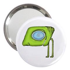 Funny Alien Monster Character 3  Handbag Mirror