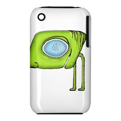 Funny Alien Monster Character Apple Iphone 3g/3gs Hardshell Case (pc+silicone)