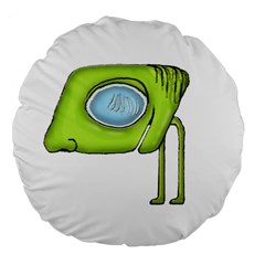 Funny Alien Monster Character 18  Premium Round Cushion