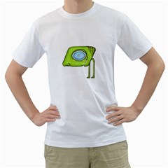 Funny Alien Monster Character Men s T-Shirt (White)