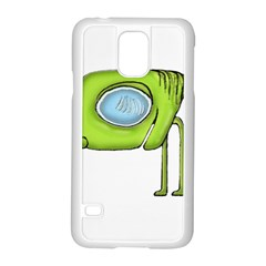 Funny Alien Monster Character Samsung Galaxy S5 Case (White)