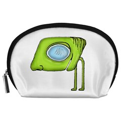 Funny Alien Monster Character Accessory Pouch (Large)