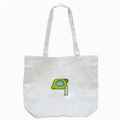 Funny Alien Monster Character Tote Bag (white)