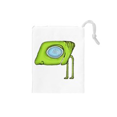 Funny Alien Monster Character Drawstring Pouch (small)