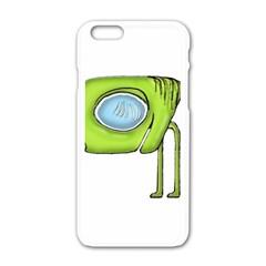 Funny Alien Monster Character Apple iPhone 6 White Enamel Case