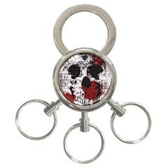 Skull Grunge Graffiti  3 Ring Key Chain