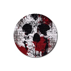 Skull Grunge Graffiti  Drink Coasters 4 Pack (round)