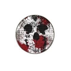 Skull Grunge Graffiti  Golf Ball Marker 4 Pack (for Hat Clip)