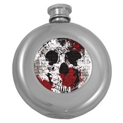 Skull Grunge Graffiti  Hip Flask (round)