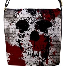 Skull Grunge Graffiti  Flap Closure Messenger Bag (small)