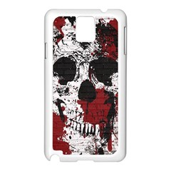 Skull Grunge Graffiti  Samsung Galaxy Note 3 N9005 Case (White)