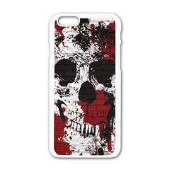 Skull Grunge Graffiti  Apple iPhone 6 White Enamel Case