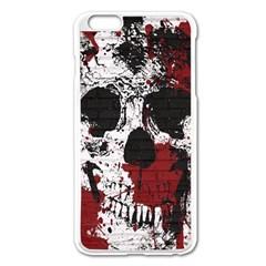 Skull Grunge Graffiti  Apple iPhone 6 Plus Enamel White Case