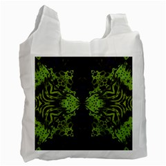 Jungle Fever Mix White Reusable Bag (two Sides)