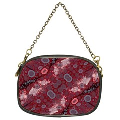 Burgundy Baby Blue Chain Purse (two Sides)