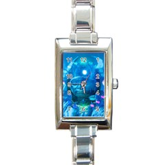Magician  Rectangular Italian Charm Watch